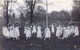 Garland dancing is an English dance tradition that began in the 1800s