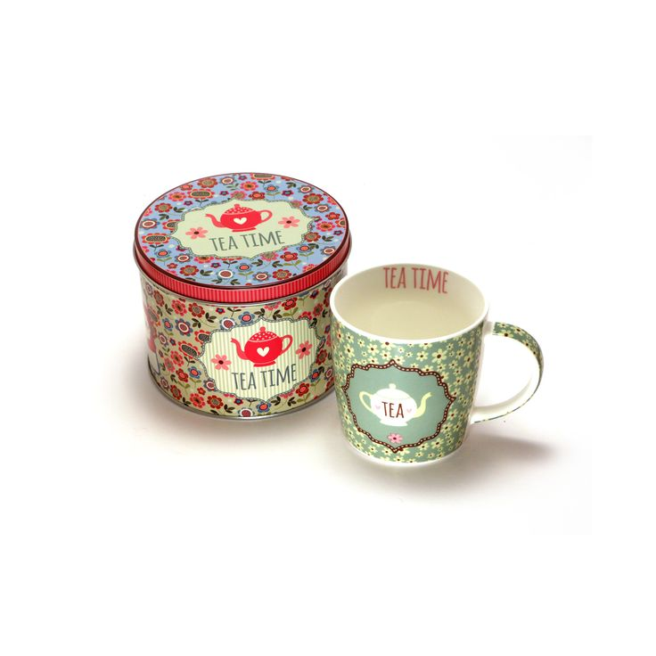 TeaTime Mug and Tin. Find it here http://www.smallthings.gr/shop/cooking-room-2/spring-tea-time-mug-tin/#.ViYtP9XhA0M