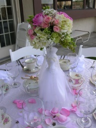 Bridal Gown Centerpiece