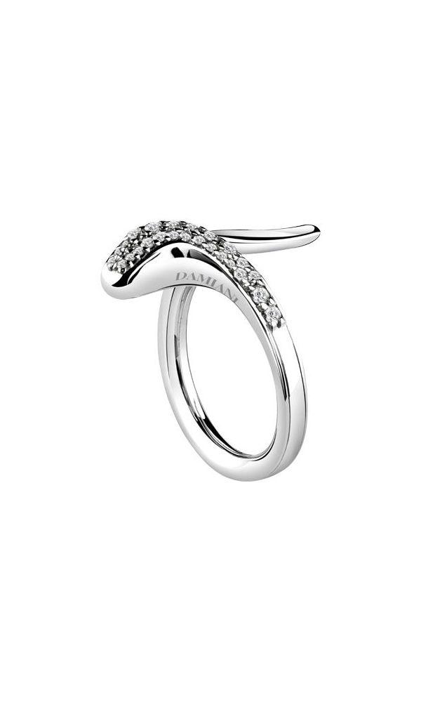 Eden white gold ring with diamonds