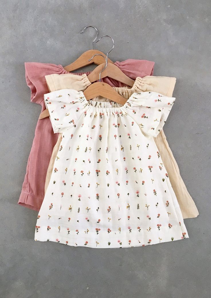 e95d17a01 Handmade Organic Cotton Double Gauze Baby Dresses | SunnyAfternoon ...