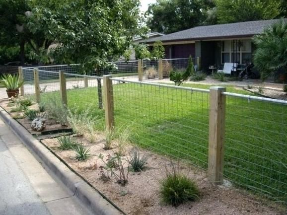 Image Result For Hog Wire Fence Designs For Sloped Yard Backyard Fences House Fence Design Fence Options