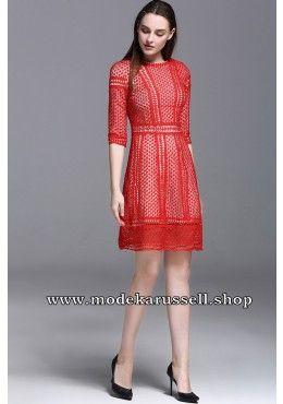 Elegantes Kleid Abendkleid Urmina in Rot