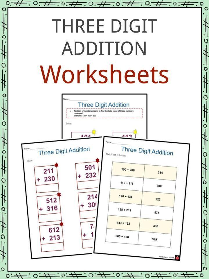 Touch Math Worksheet Generator Three Digit Addition Worksheets Printable Math Worksheets Touch Math Worksheets Addition Worksheets