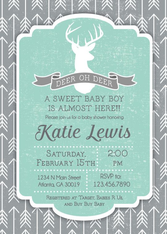 deer oh deer baby shower invitation printable deer baby showers baby