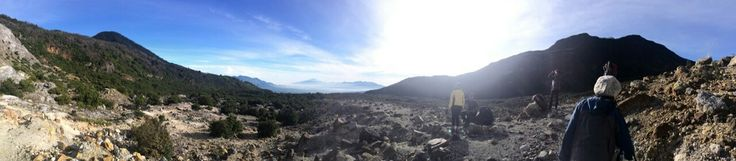 Clear blue sky at Mount Papandayan, West Java, Indonesia
