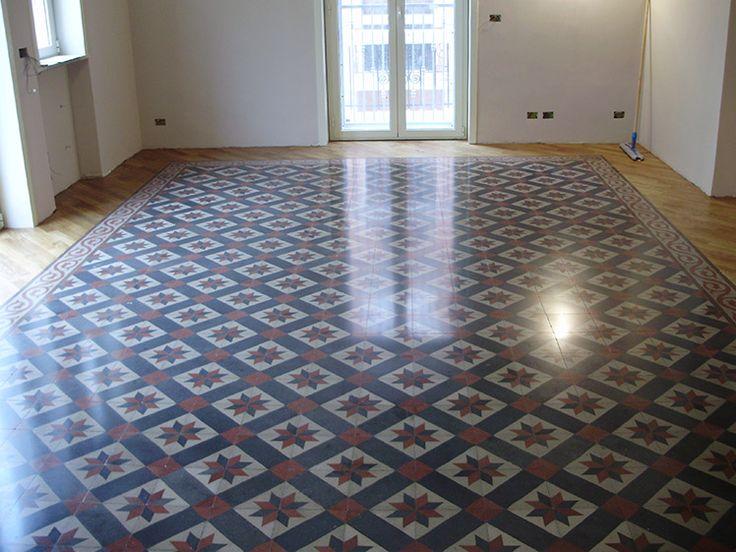 #pavimento in #cementine - dopo il trattamento - finalista concorso #TrattatiDaRe 2011-12 - @floortreatment