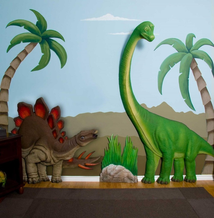 Wonder If I Have A Sponsor Who Wants To Gift This To The Library For Next Year Brachiosaurus Stegosaurus Dinosaur Set Wall Art Decor By Beetling
