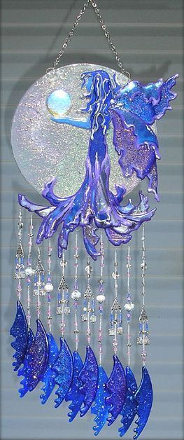 Fused Glass Suncatchers | ... Mistress - by Jacqueline K M Pfeffer from Fused Glass Mobile-Chime