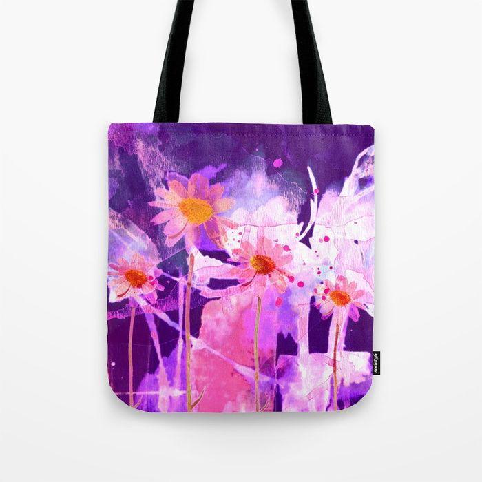 VIDA Statement Bag - vivid blue purple flowers by VIDA MXEUnxwopI