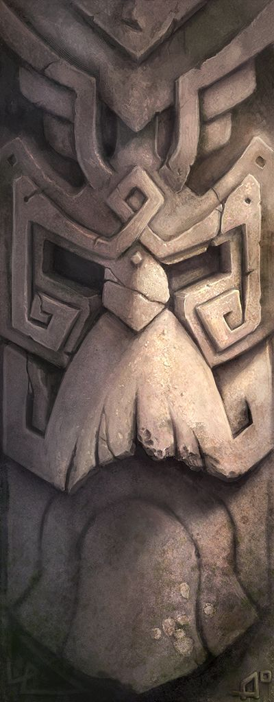Dwarven Relief - I love this style of ornamental artwork. Imagine walking through an underground city full of stuff like this.