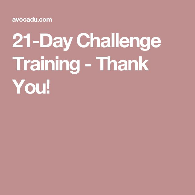 21-Day Challenge Training - Thank You!