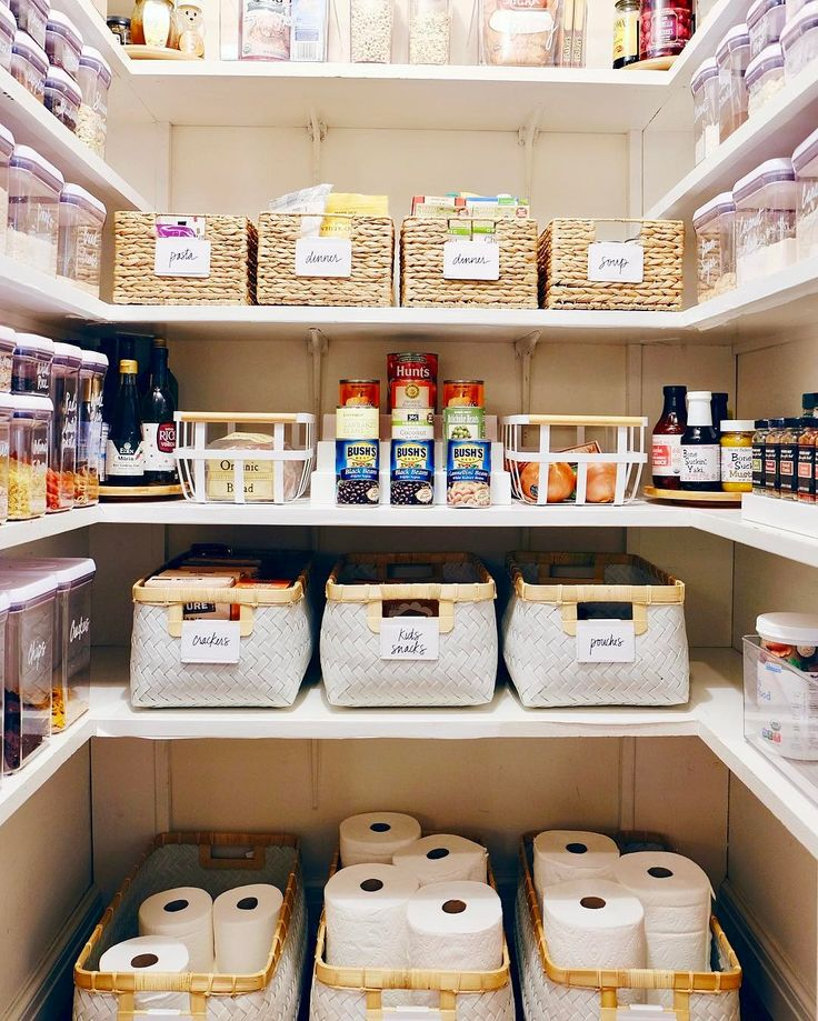 Best 25 organize food pantry ideas on pinterest pantry for Kitchen organization ideas