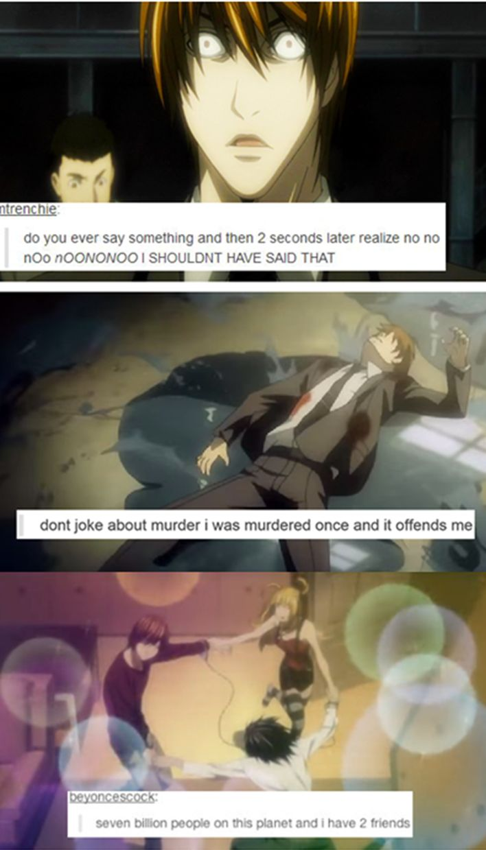 Death Note text post