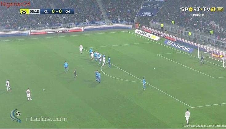 Nabil Fekir Free Kick Goal After Terrible Flop By Mandanda vs Marseille (1-0)!