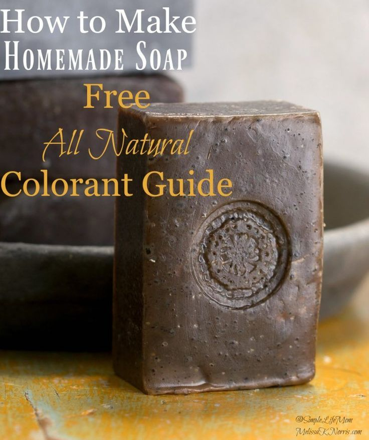 Homemade Soap with Natural Colorants and Tips