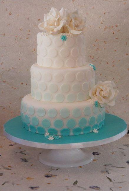 tiffany polka dot wedding cake