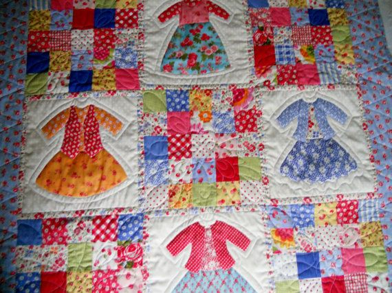 183 best Baby quilts images on Pinterest | Baby quilts, Embroidery ... : doll dress quilt - Adamdwight.com