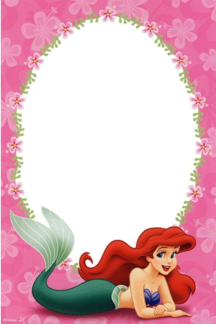 Invitación Ariel La Sirenita