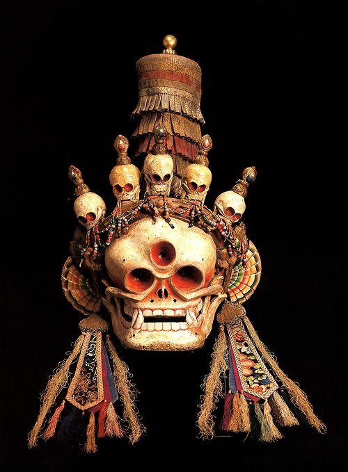 magictransistor:  TibetanCitipati Mask