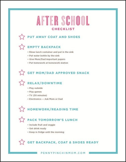 photo relating to After School Schedule Printable identify Very simple toward Hire Immediately after College or university List For Children Emma Ella