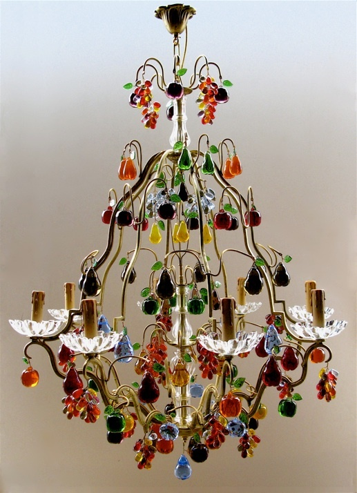 8 best fruit chandeliers images on pinterest murano glass bunches of crystal fruit hand blown from the south of france aloadofball Choice Image