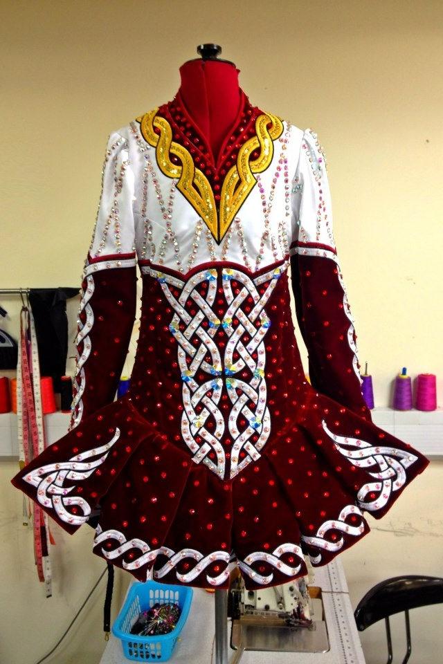 Celtic Star Irish Dance Dress. Beautiful colors