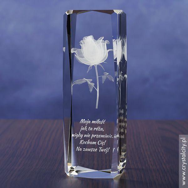 Podziękowanie dla rodziców Róża 3D prezent na wese