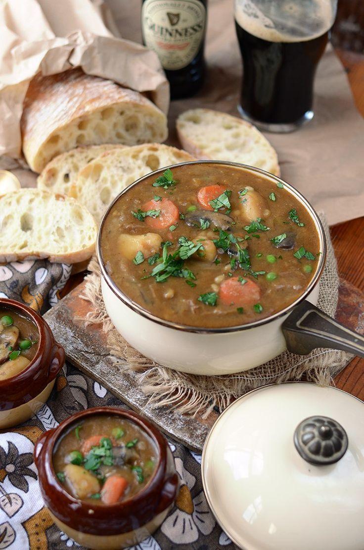 Vegan Guinness Barley Stew / Food styling / Food photography inspiration