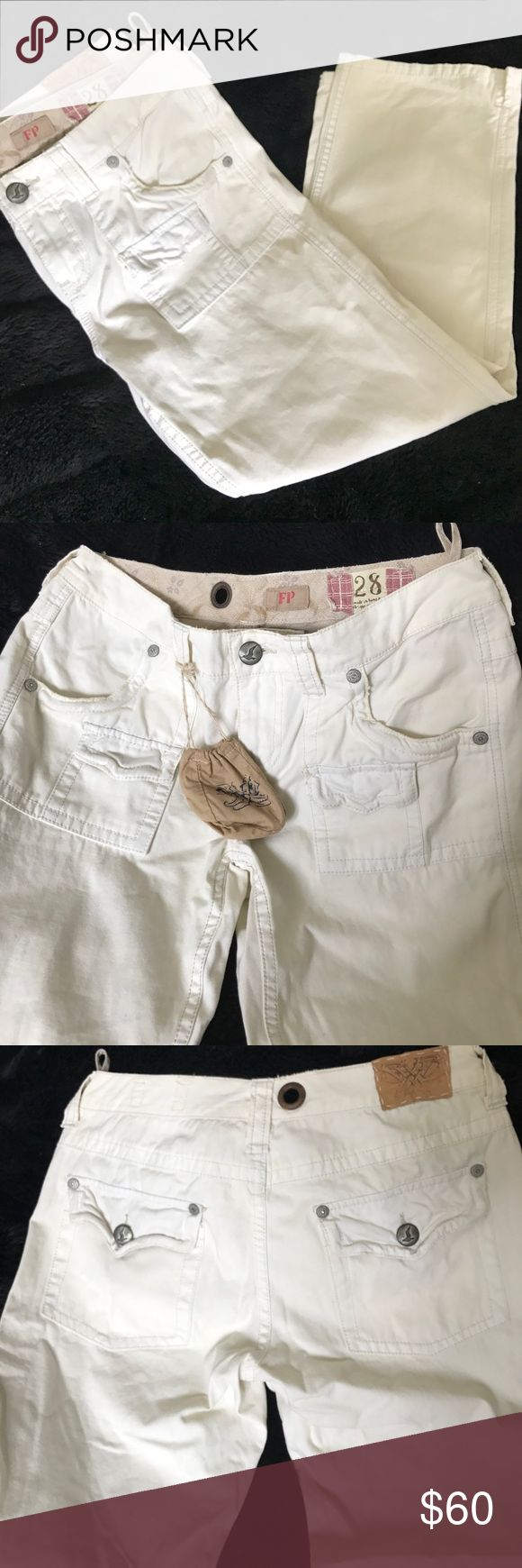Free People cotton ankle pants Beautiful pants. NEVER BEEN