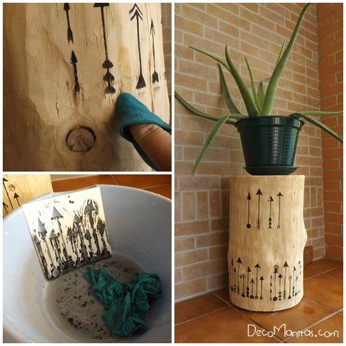 Tendencia naturalista personalizar muebles en crudo con stencil 7