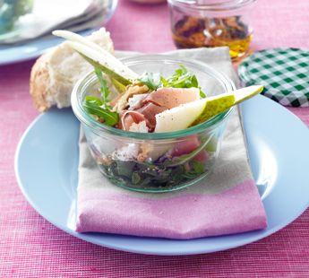 Salade met peer en rucola - Recept - Jumbo Supermarkten