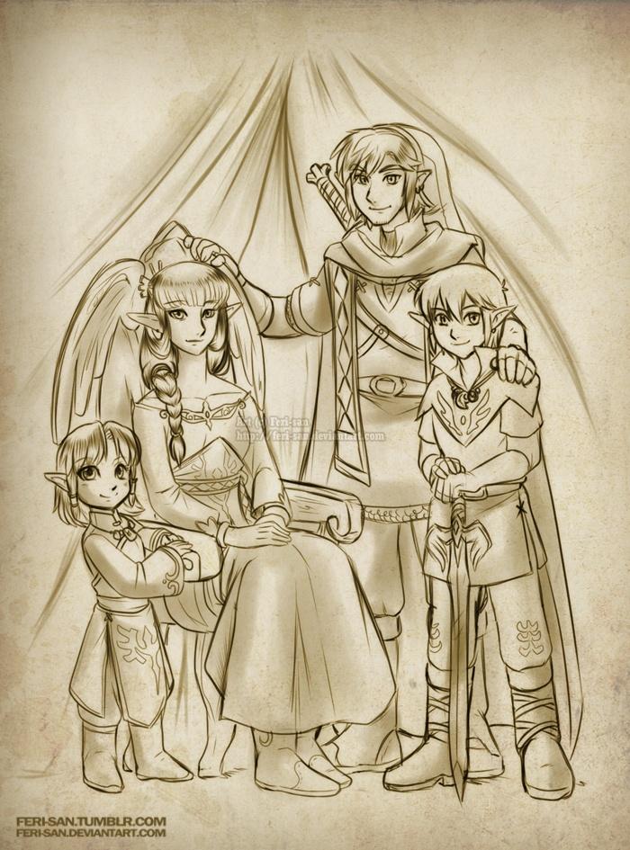 Ferisae.... Link, Zelda, Daphnes, and Zellie.