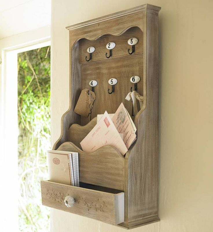 letter store with key hooks by dibor | notonthehighstreet.com