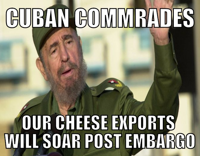Fidel Castro Surfaces on Twitter for Cheese
