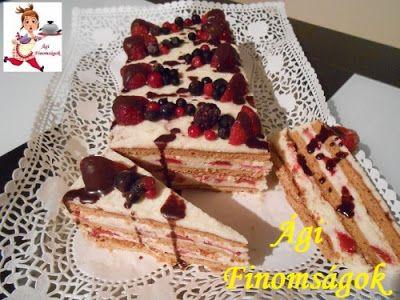 Receptek, és hasznos cikkek oldala: Mézes grízes sütésmentes epres torta csoda Ágicától!