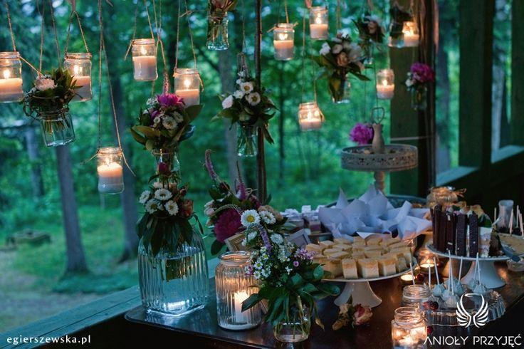 7. Cherry Wedding,Sweet table,Field flowers / Czereśniowe wesele,Słodki stół,Polne kwiaty,Anioły Przyjęć