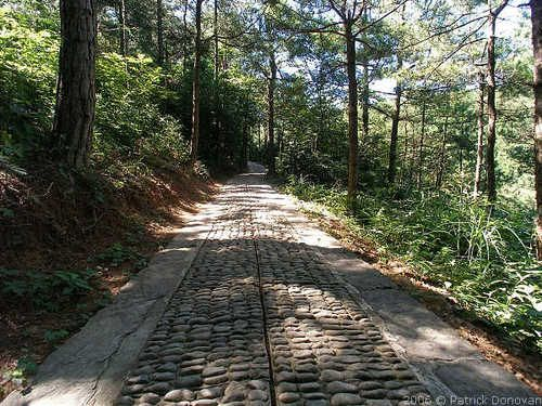 Old cobblestone road