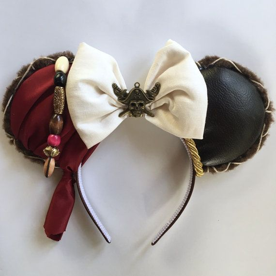 Magic Mouse Ears Captain Jack Sparrow by MakesYouSmile101 on Etsy
