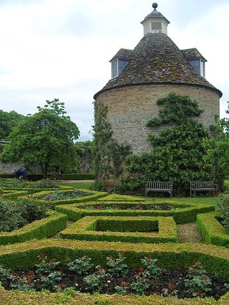 Rousham House Garden, parterre and tower.