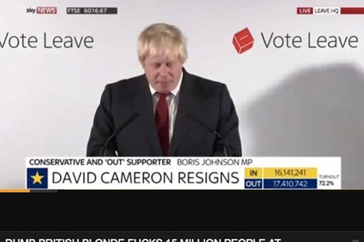Boris Johnson's Brexit speech has turned up on Pornhub
