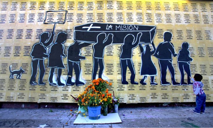 """The Rent Eats First"": Fighting Gentrification in California  (An anti-gentrification mural in San Francisco's Mission District. Photo: S.F. Examiner.)"