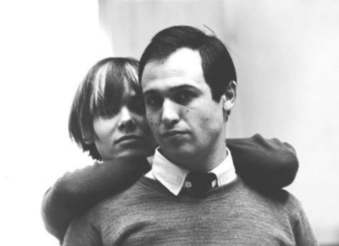 Anita Pallenberg & Mario Schifano. Anita's boyfriend, photographer, in the early 60's. Marianne Faithfull would run off with him in 1969 when Mick was on tour.