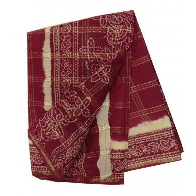 Indian Maroon Sari Women Wear New Traditional Dress Ethnic Pure Cotton Sari