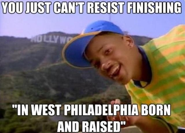 Superb Fresh Prince of Bel Air I did end up finishing it