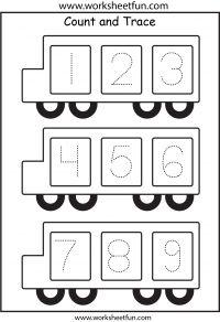 Number Tracing – 1 Worksheet