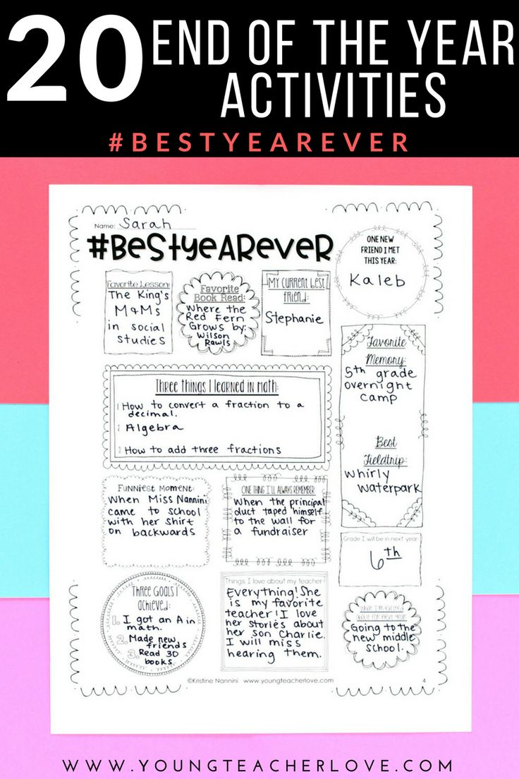 End of the Year Activities: 20 Ways to End Your Year Right! - Young Teacher Love by Kristine Nannini