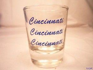 Cincinnati Festival shot glasses