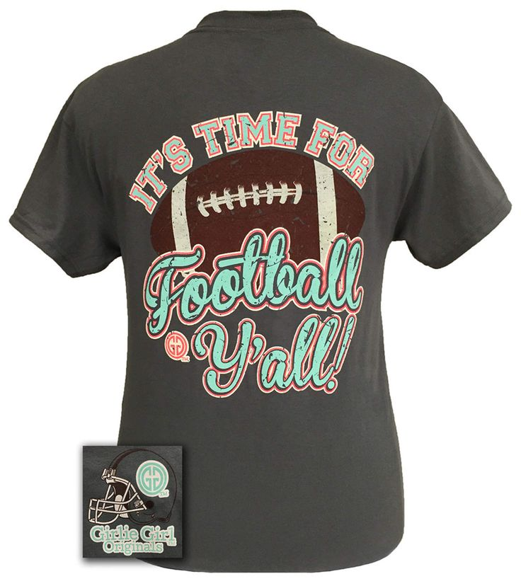 Girlie Girl Originals Time For Football Y'all Team Bright T Shirt $20