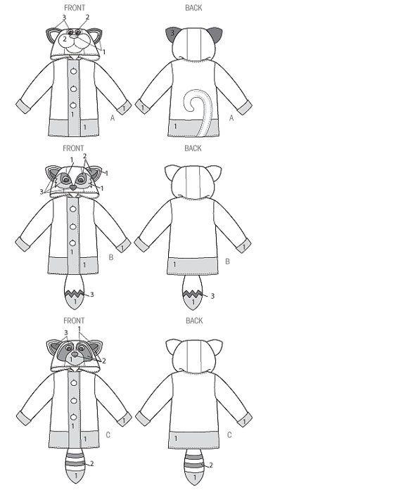 Boys and Girls Coat Sewing Pattern Fox Coat by MissBettysAttic